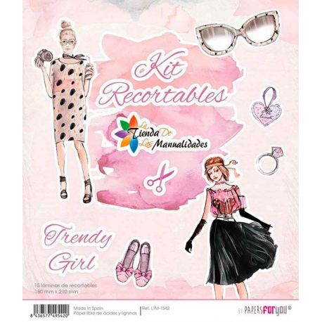 Kit recortables Trendy Girl - Papel scrap Papers for You