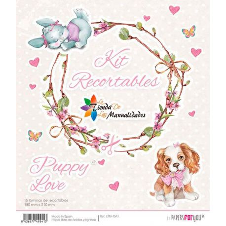 Kit recortables Puppy Love - Papel scrap Papers for You