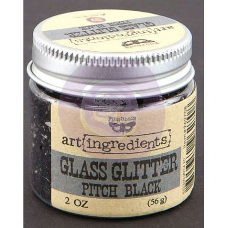 Art Ingredients-Glass Glitter: Pitch Black 56g