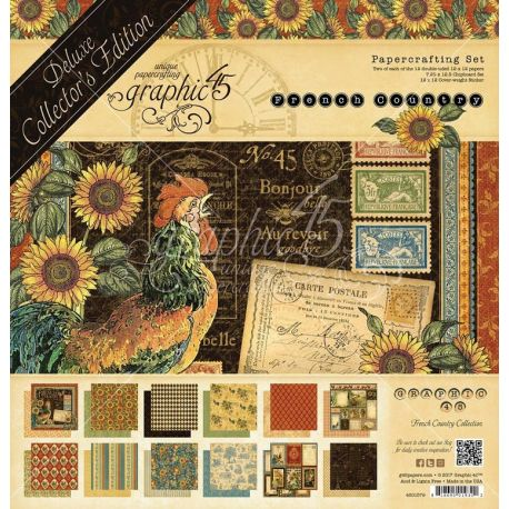 Set de 24 papeles surtidos 30x30 French Country Collector's Edition
