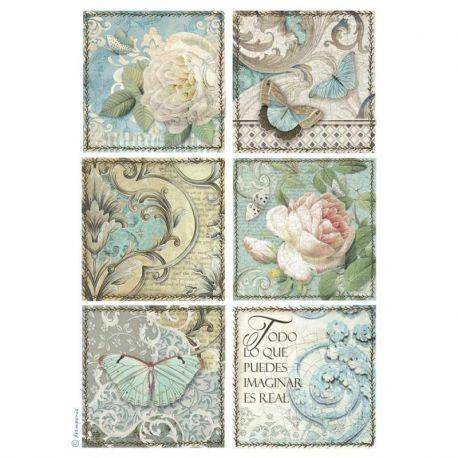 Papel de arroz DinA4 Azulejos cards