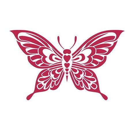Stencil 21x29.7cm Mariposa grande con cuerpo de corazones