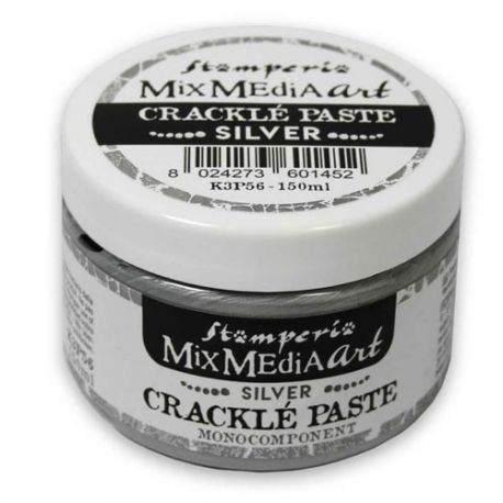 Crackle Paste monocomponente PLATA 150 ml.