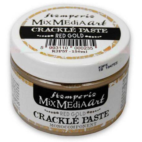 Crackle Paste monocomponente ORO ROJO 150 ml.