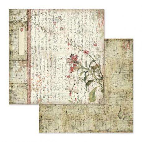 Papel de Scrap Stamperia Poemas orientales