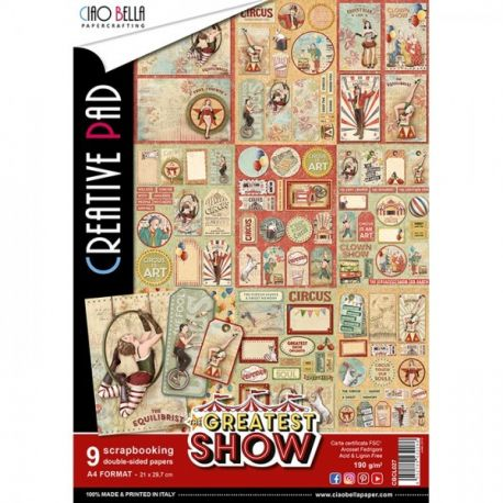Set 9 hojas de Etiquetas Ciao Bella The Greatest Show