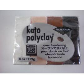 Kato polyclay Arcilla polimérica Set de 4 colores neutros 112gr