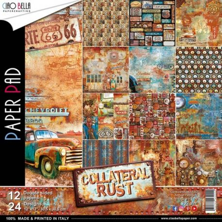 Set 12 papeles Ciao Bella Collateral Rust