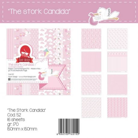 "Paper Pad ""The Stork Candida"" Pink Peq."
