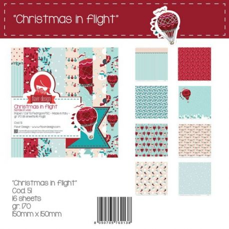 "Paper Pad ""Christmas in Flight"" Peq."