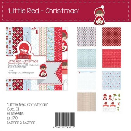 "Paper Pad ""Little Red Christmas"" Peq."