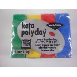 Kato polyclay Arcilla polimérica Set de 4 colores Primarios 112gr