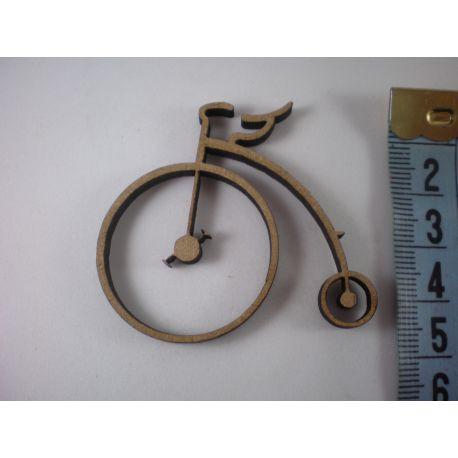 Silueta bicicleta antigua