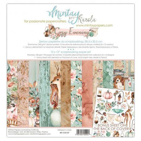 "Mintay by Karola ""Cozy Evening"" Scrapbooking paper set 30,5 x 30,5"