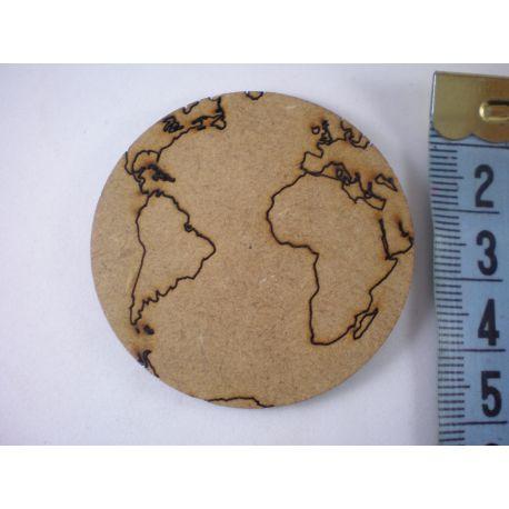 Silueta bola del mundo