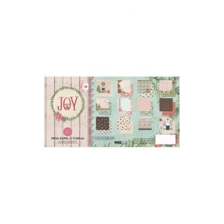 """Colección """"Joy"""" 12 papeles para Scrapbooking by Elena Roche"""