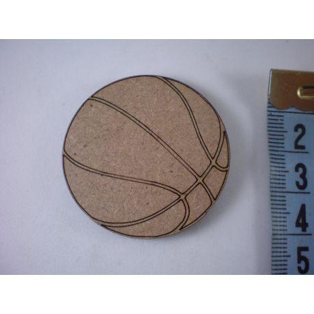 Silueta pelota basquet