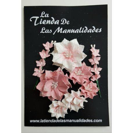LTM Handmade Flowers - Poinsettia Rosa