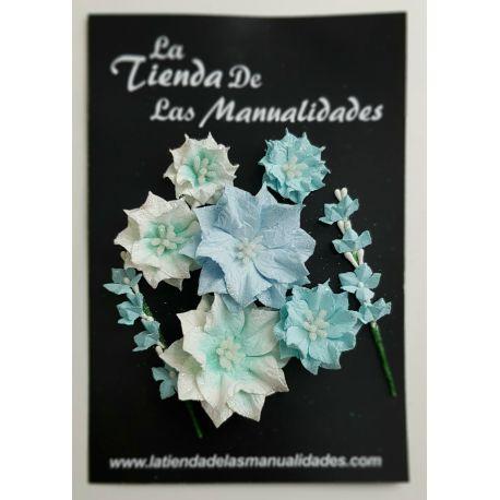 LTM Handmade Flowers - Poinsettia Azul