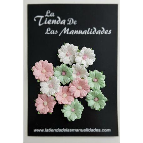 LTM Handmade Flowers - Tricolor Minis