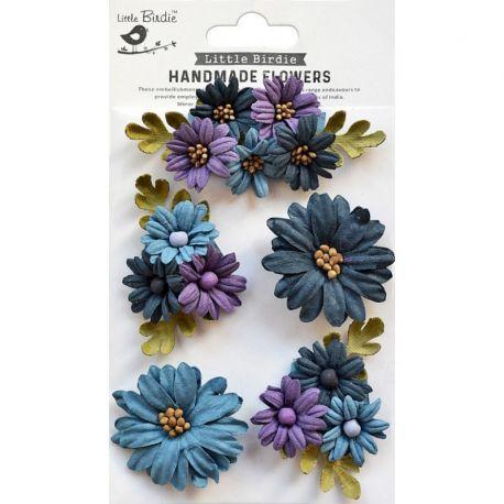 Little Birdie - Handmade Flowers - FAIRY GARDEN PURPLE PASSION
