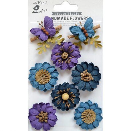 Little Birdie - Handmade Flowers - ARCADIA PURPLE PASSION