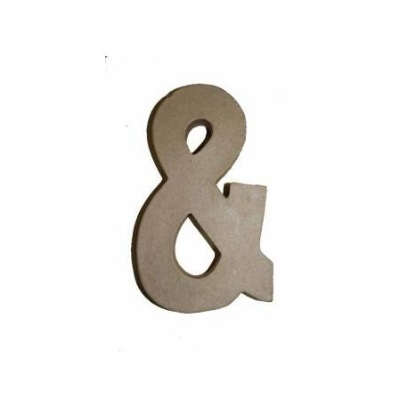 """Letra de cartón 10cm """"&"""""""