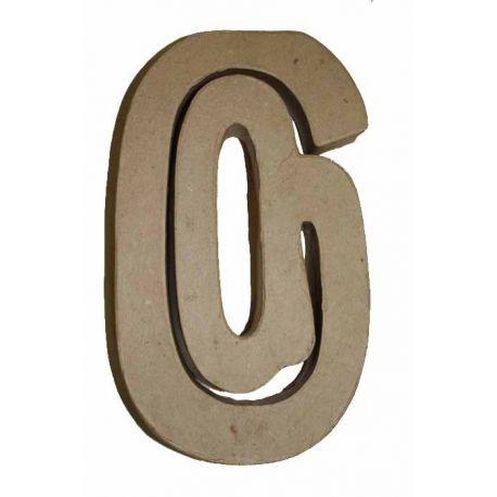 """Letra de cartón 10cm """"@"""""""