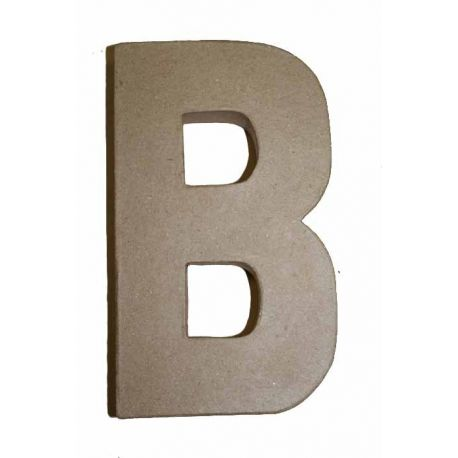"""Letra de cartón 10cm """"B"""""""