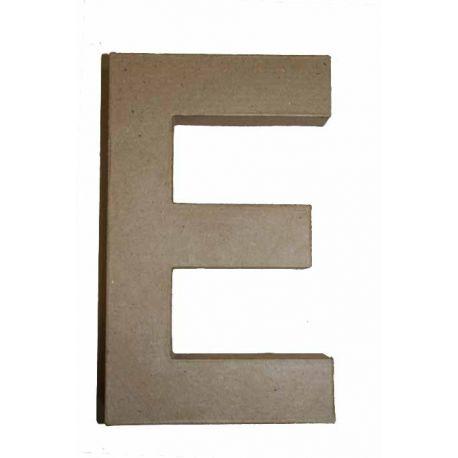 """Letra de cartón 10cm """"E"""""""