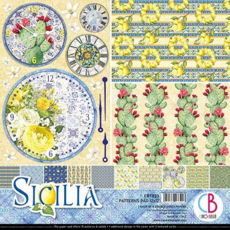 Set 8 papeles Ciao Bella Básicos Sicilia