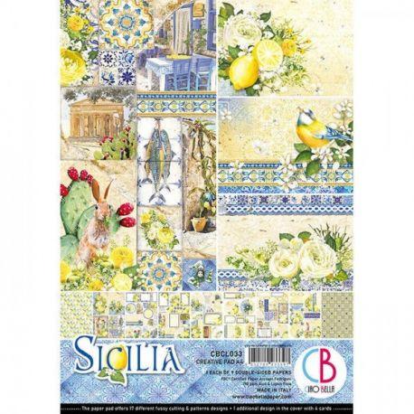 Set 9 hojas de Etiquetas Ciao Bella Sicilia