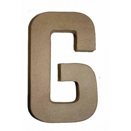 """Letra de cartón 10cm """"G"""""""