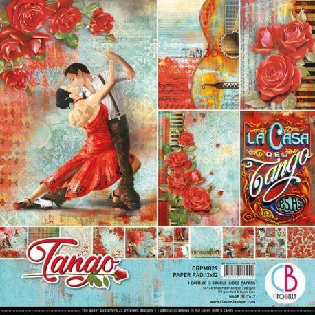 Set 12 papeles Ciao Bella Tango