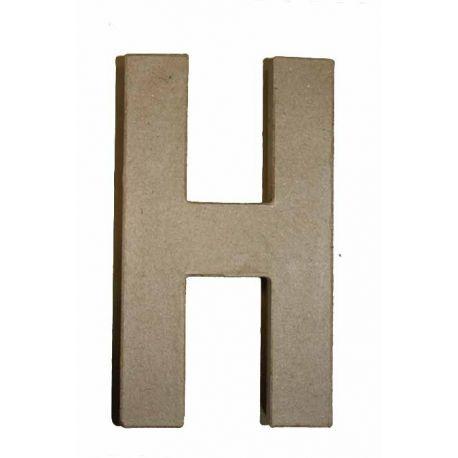 """Letra de cartón 10cm """"H"""""""