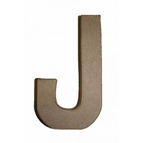 """Letra de cartón 10cm """"J"""""""