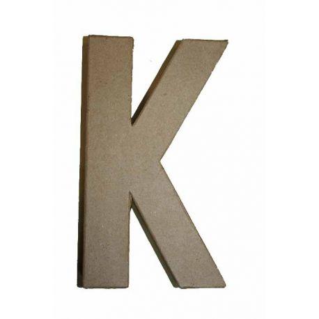 """Letra de cartón 10cm """"K"""""""