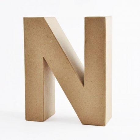 "Letra de cartón 10cm ""N"""