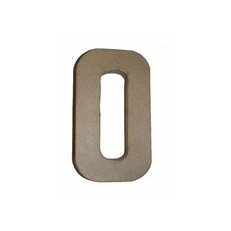 """Letra de cartón 10cm """"O"""""""