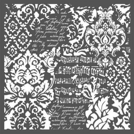 """Stencil Stamperia 30x30cm """"Wallpaper Fantasy"""""""