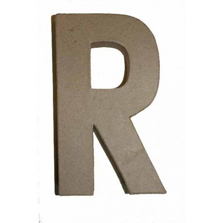"""Letra de cartón 10cm """"R"""""""