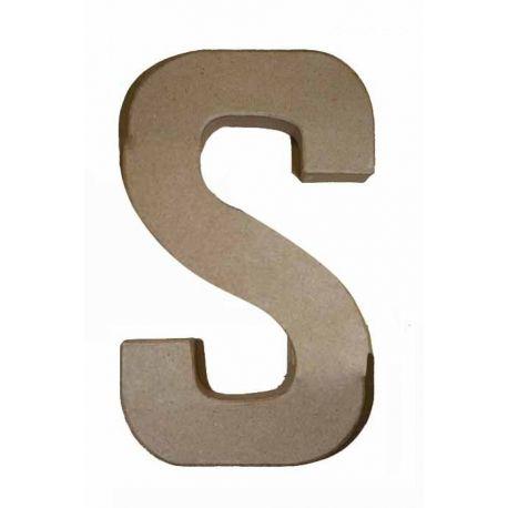 """Letra de cartón 10cm """"S"""""""