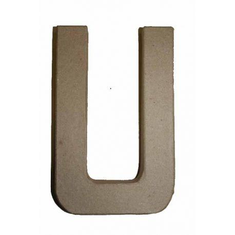 """Letra de cartón 10cm """"U"""""""