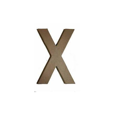 """Letra de cartón 10cm """"X"""""""