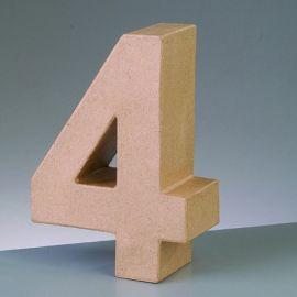 "Número de cartón Varios tamaños ""4"""