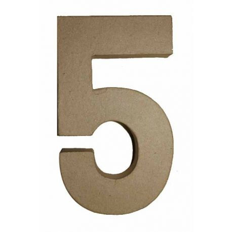 "Número de cartón Varios tamaños ""5"""