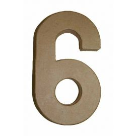 "Número de cartón Varios tamaños ""6"""