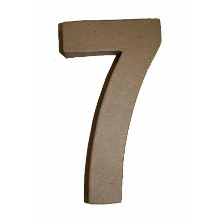 "Número de cartón Varios tamaños ""7"""