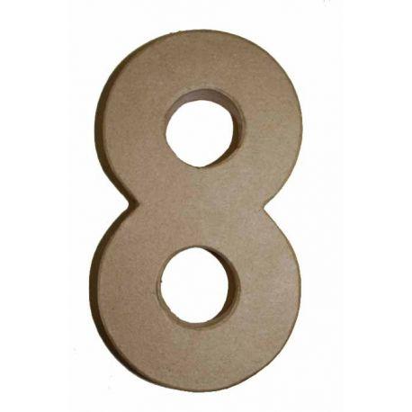 "Número de cartón Varios tamaños ""8"""