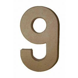 "Número de cartón Varios tamaños ""9"""